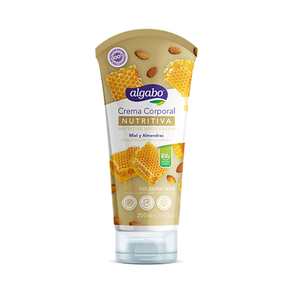 Body cream nutritiva 200ml miel y almendra Algabo art 6060508