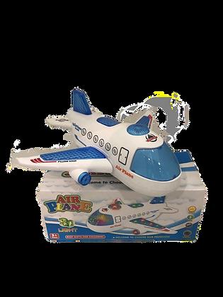 Avion a pila con movimiento luz y sonido 20x20cm