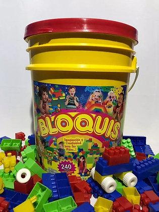 Balde de Bloquis x 240 piezas
