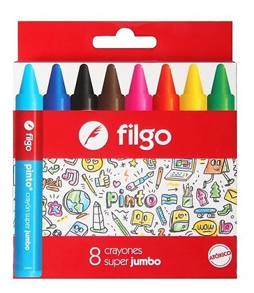 Crayones x8 super jumbo