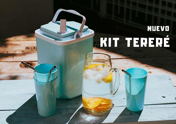 Kit terere bidón 3 litros + 3 vasos +3 bombillas acero largas Cimarron