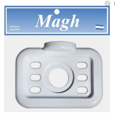 Porta vaso y cepillo autoadhesivo Magh art 1101