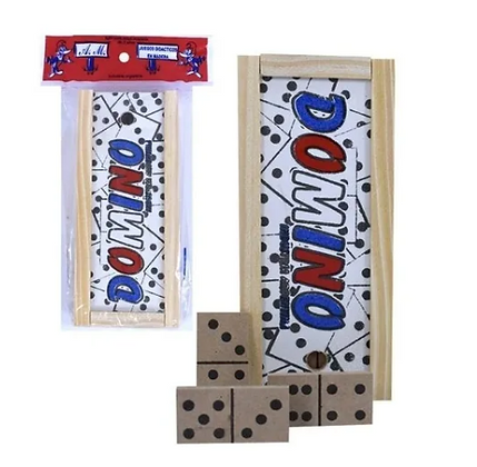 Domino de madera con estuche Aries