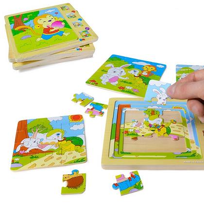 Puzzle de madera 4 en 1 Pumy art 54460