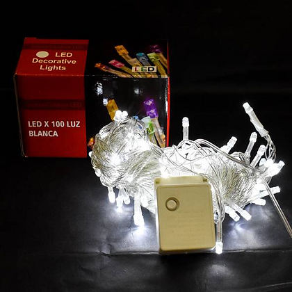Luz x 100 led multifuncion blanca