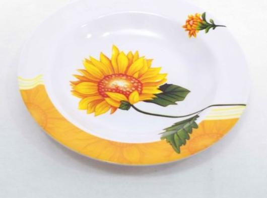 Plato hondo de melamina girasol 22cm Cool Bazar