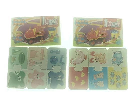 Aprendi juegos 6 cartones 17x12,5cm Luna Plast art 9704