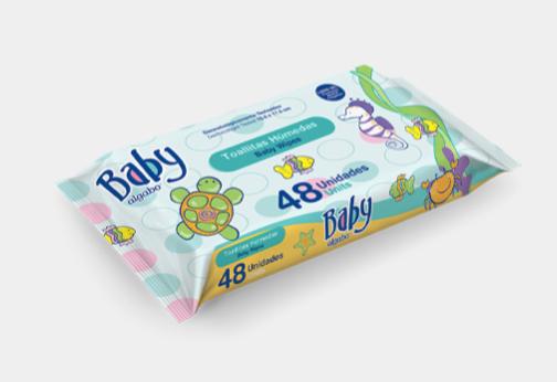 Baby toallitas wipes x 48 Algabo art 3362002