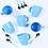 Thumbnail: Juego de 12 piezas de vidrio color Soft Carol art 4041