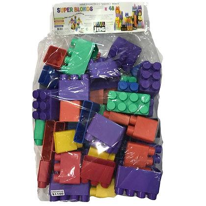 Blokos 48 piezas de 12 a 15cm Gigantes en bolson lujo JNG art 12184