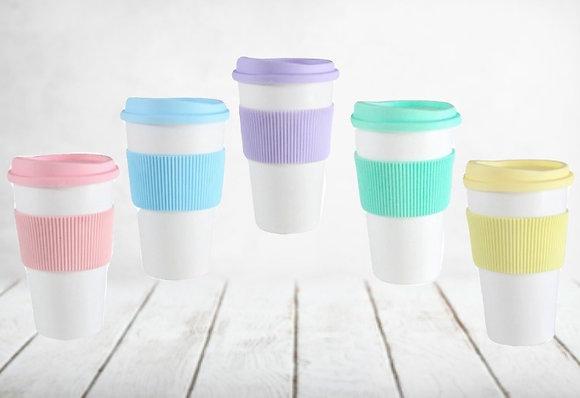 Vaso Starbucks c/ faja y tapa pastel Cliker