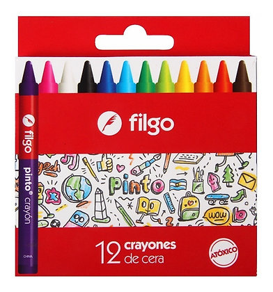 Crayones x12 de cera Filgo