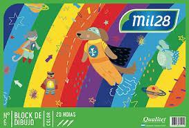 Block para dibujo n6 color 20hojas Mil28