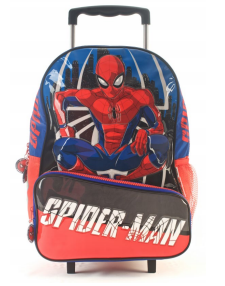 """Mochila Spider Man con carro 16"""" original Wabro art 87003"""