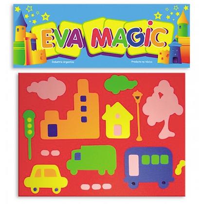 Rompecabeza Ciudad goma eva Eva magic art 4100