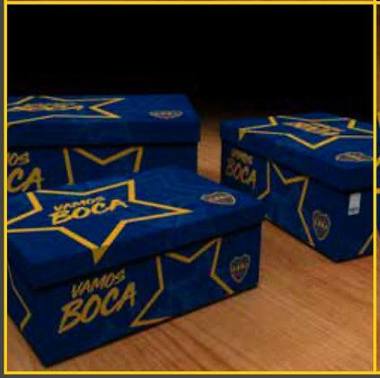 Caja para armar grande 47x32,5x18 original Demo Futbol