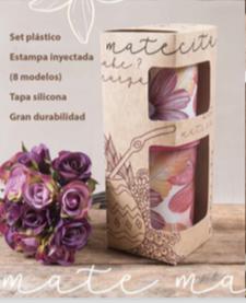 Set matero (yerbera + azucarera) en caja de regalo Keyplast