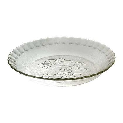 6 platos hondos vidrio 22cm Orquidea Durax