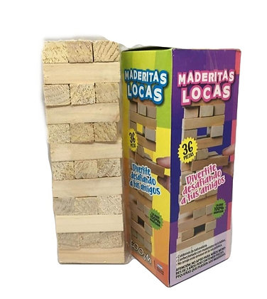 Yenga Maderitas Locas en Caja 20x8cm Zoom