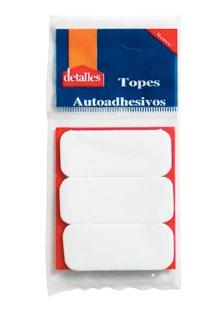 Topes autoadhesivo rectangulares x 3 Detalles art791