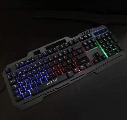 Teclado Gamer Membrana retroiluminado RGB en español Aoas M-888 TR EL-3366