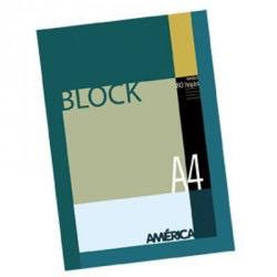 Block A4 rayado  America 80hjs