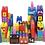 Thumbnail: Blokos 48 piezas de 12 a 15cm Gigantes en bolson lujo JNG art 12184