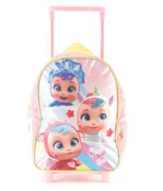 "Mochila Cry Babies c/carro 11"" original Wabro art 89601"