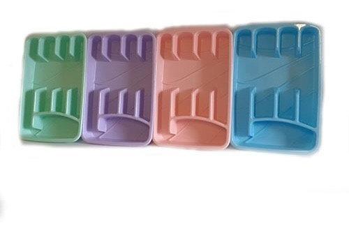 Cubiertero 5 divisiones pastel
