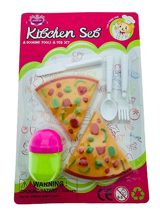 Juego de cocinita pizza en blister 22x14cm Sebigus art 60230