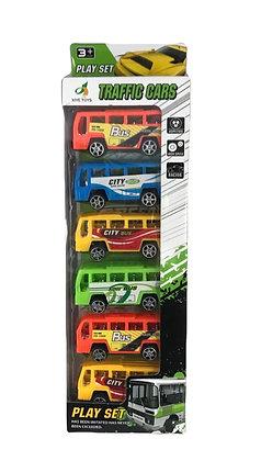 Set de 6 micros pull-back 28x10cm caja Athand art 222-3