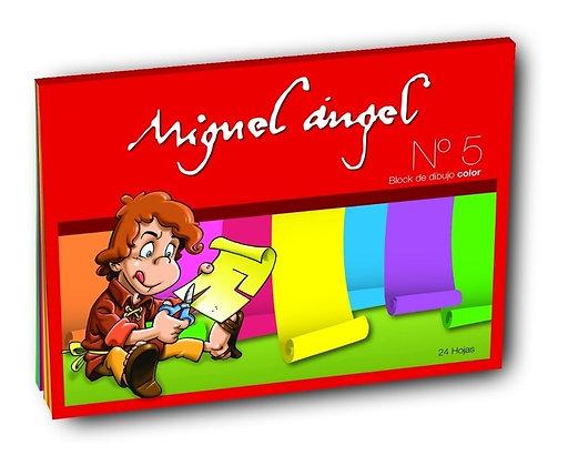 Block de dibujo  N*5 color 24 hojas Miguel Angel