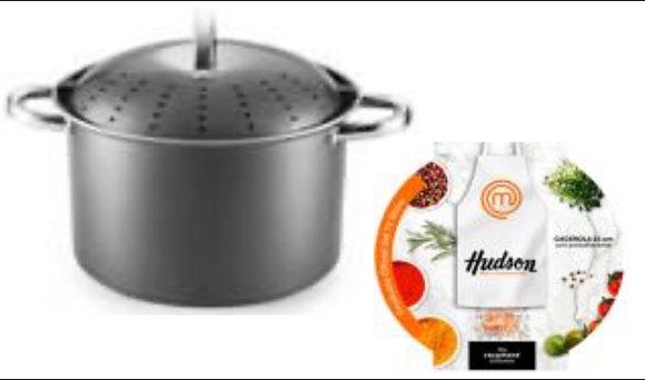 Cacerola alta de acero carbono c/antiadherente 24cm Master  chef Hudson