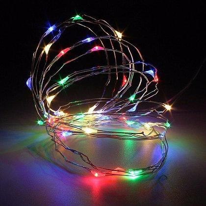 Luces led color decoracion a pila 2mt TR