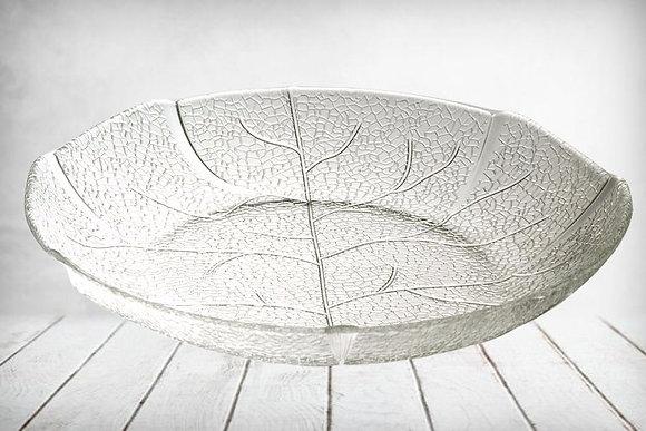 6 platos playos vidrio 22cm Labrado Durax