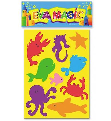 Rompecabeza animales de mar goma eva Eva magic art 4200