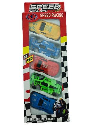 Autos en caja x 5 unidades Sebigus art 60701