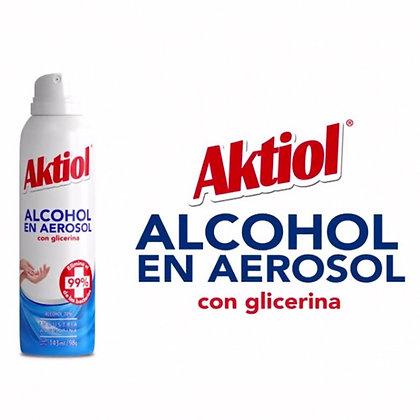 Alcohol en spray al 70% con glicerina 144ml Aktiol