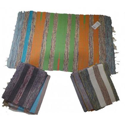 Alfombra multicolor con flecos importada 50x80cm Soifer art 110033