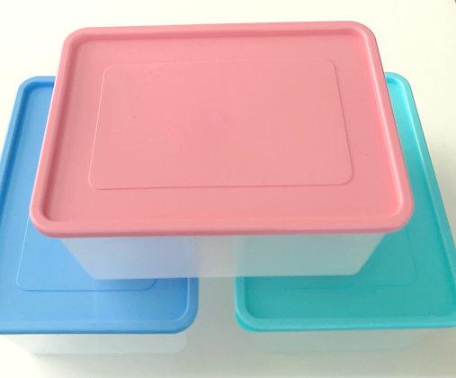 Hermetico rectangular 14 litros 16x27x37cm Dif plast  tapa pastel