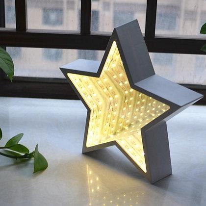 Figura Estrella c/led espejado a pila 17cm