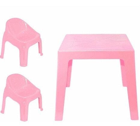 Mesa con 2 sillitas infantiles Sebi