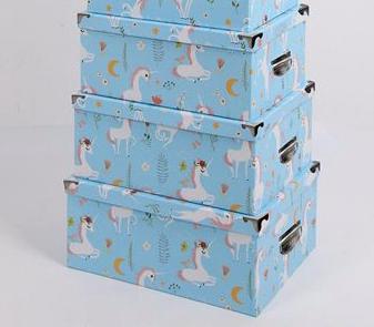 Set de 10 cajas con manija y herrajes unicornio