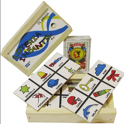 Loteria infantil madera Aries