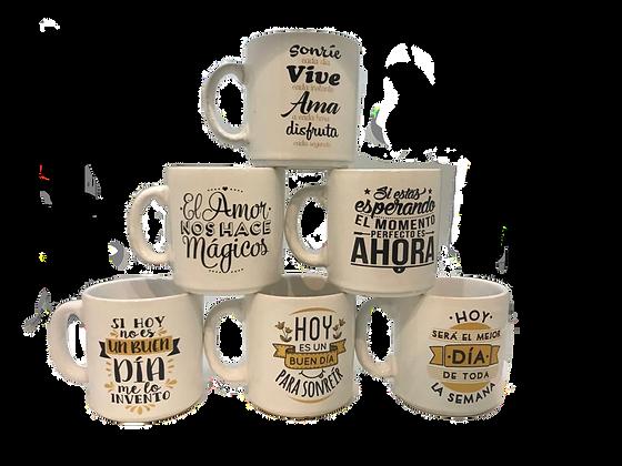 Jarro mug de ceramica mod Frases Lomas