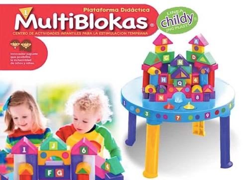 MultiBlokas Juego de bloques x 45 c/mesita JNG art 12530