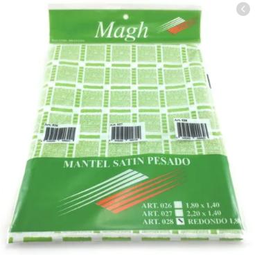 Mantel satin pesado redondo Magh art 028