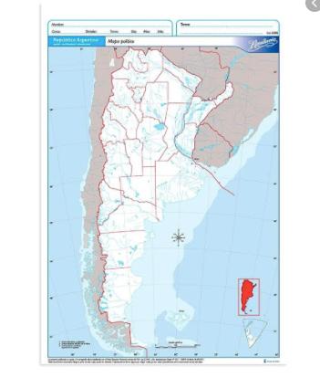 Mapa politico Argentina n5 Alfa Gloss