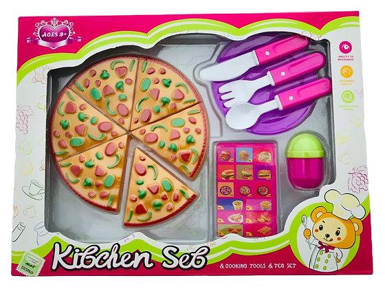 Conjunto de cocina pizza en caja 31x23x4cm Sebigus art 61395