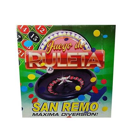 Juego de ruleta san remo